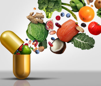 fruits and vegetables in a capsule